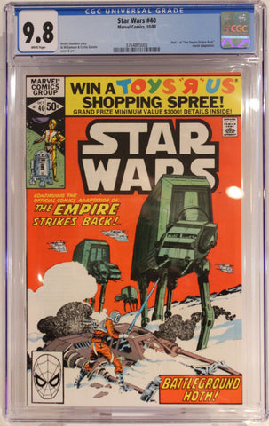 "Star Wars #40 - CGC 9.8 - Part 2 of ""The Empire Strikes Back"" movie adaptation."