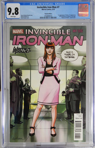 Invincible Iron Man #7 - CGC 9.8 - 1st app of Tomoe - 1st app of Riri Williams in cameo