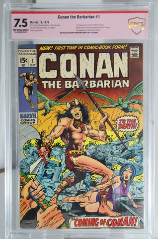 Conan the Barbarian #1 CBCS 7.5 - Signed by Barry Windsor-Smith