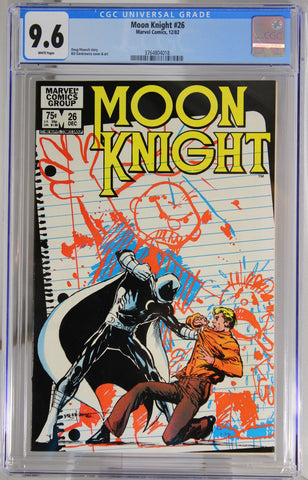 Moon Knight #26 - CGC 9.6 - Bill Sienkiewicz cover & art