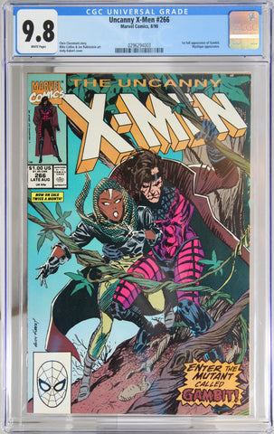 Uncanny X-Men #266 - CGC 9.8 - 1st full appearance of Gambit. Mystique appearance.