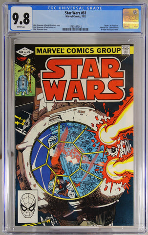 "Star Wars #61 - CGC 9.8 - ""Death"" of Shira Brie."