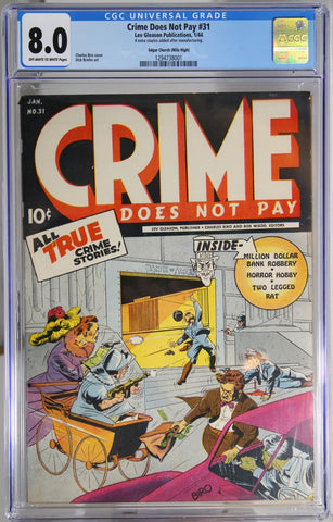 Crime Does Not Pay #31 - CGC 8.0 - Edgar Church (Mile High)