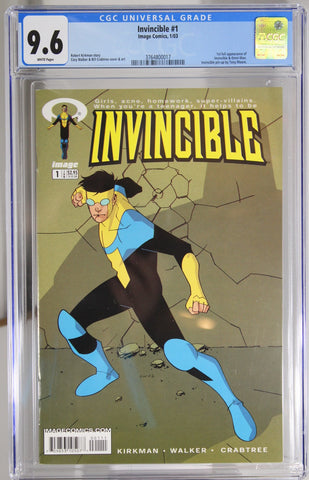 Invincible #1 - CGC 9.6 - 1st full appearance of Invincible & Omni-Man
