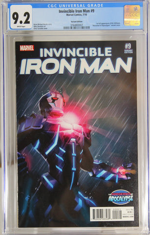 Invincible Iron Man #9 - CGC 9.2 - 1st full appearance of Riri Williams
