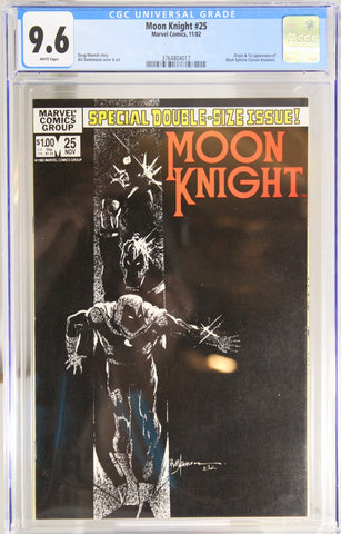 Moon Knight #25 - CGC 9.6 - Origin & 1st app of Black Spectre (Carson Knowles)