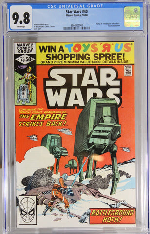 "Star Wars #40 - CGC 9.8 - Part 2 of the ""Empire Strikes Back"" movie adaptation."