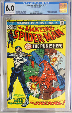 Amazing Spider-Man #129 - CGC 6.0 - 1st app of the Punisher (Frank Castle)