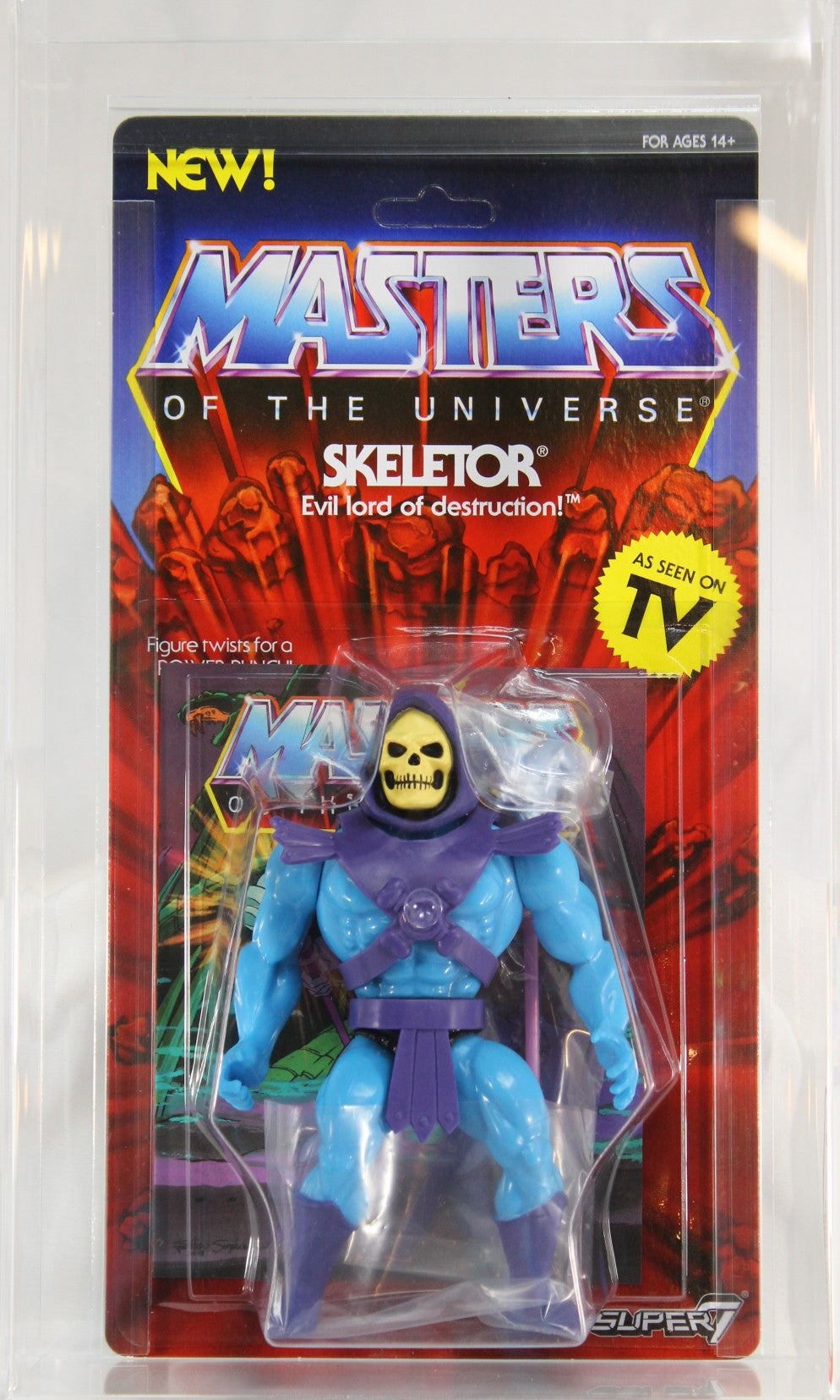 2018 - SUPER7 - MOTU - VINTAGE COLLECTION - SKELETOR - AFA 9.0