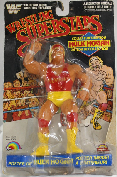 1985 - LJN - WRESTLING SUPERSTARS - HULK HOGAN - RED SHIRT - MOC