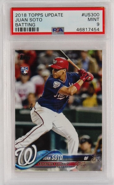 PSA - 2018 - TOPPS UPDATE - #US300 - JUAN SOTO - BATTING - MINT 9