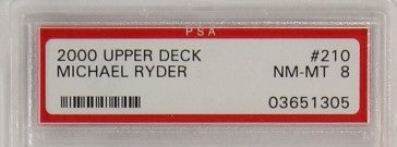 PSA - 2000 - UPPER DECK - MICHAEL RYDER - #210 - NM-MT 8