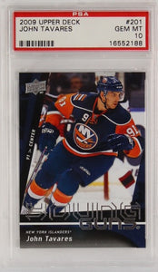PSA - 2009 - UPPER DECK - JOHN TAVARES - #201 - GEM MT 10