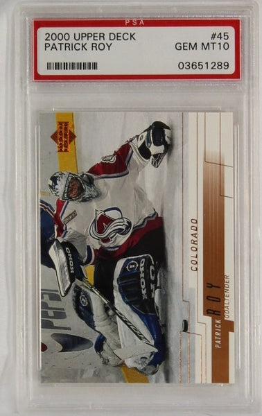 PSA - 2000 - UPPER DECK - PATRICK ROY - #45 - GEM MT 10