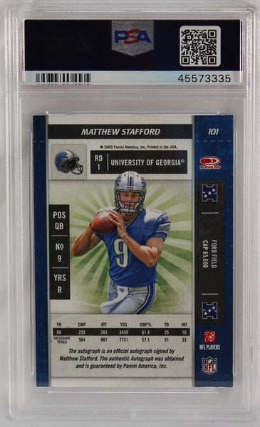 PSA - 2009 - PANINI - PLAYOFF CONTENDERS - MATTHEW STAFFORD - AUTOGRAPH - ROOKIE - #101 - NM-MT 8