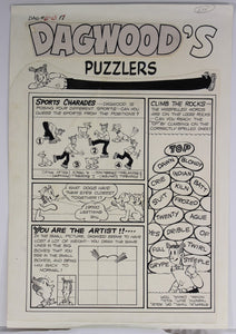 Dagwood #63 - Puzzle Page