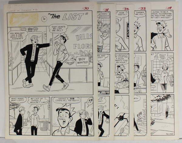 "World of Jughead # 30 - x5 Page story - Complete - ""The List"" - Decarlo"