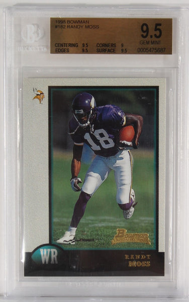 BGS - 1998 - BOWMAN - RANDY MOSS - #182 - 9.5 GEM MINT