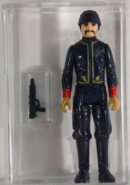 1980 - KENNER - STAR WARS - LOOSE ACTION FIGURE/HK - AFA 85 NM+ - BESPIN GUARD (WHITE) SQUARE MUSTACHE