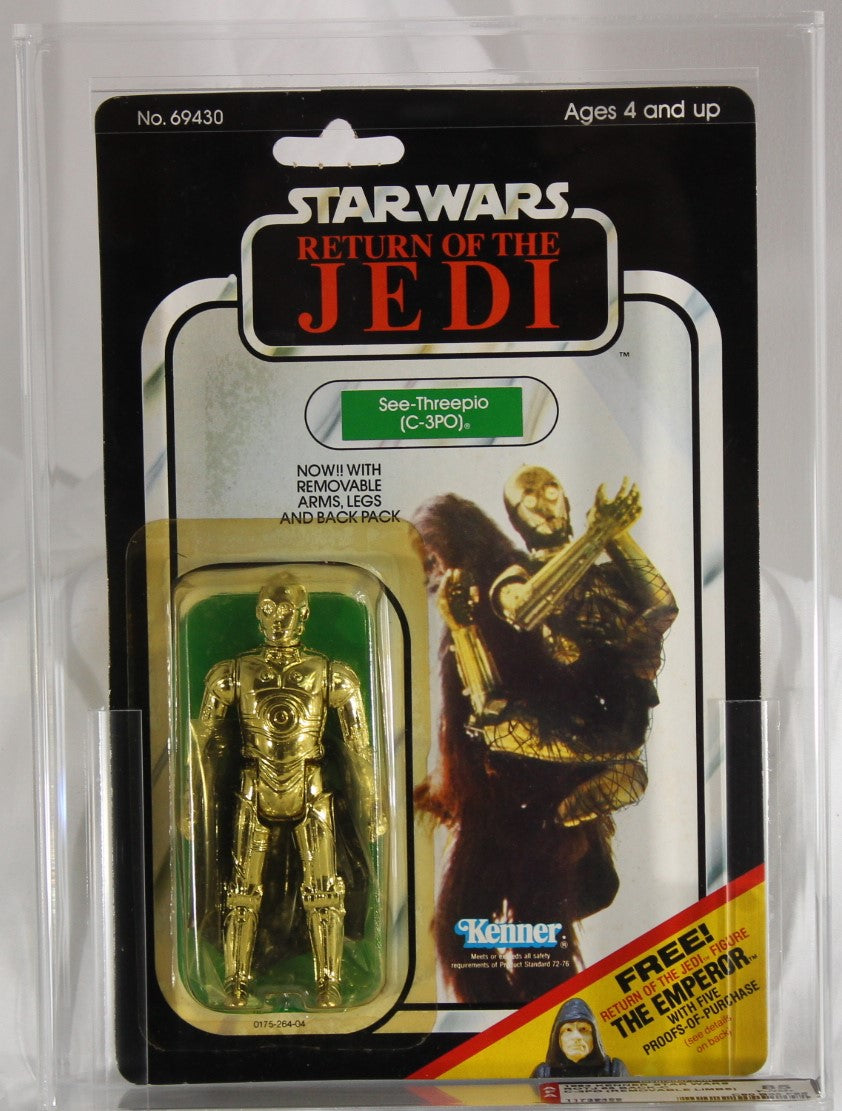 C-3PO (REMOVEABLE LIMBS) - 1983 - KENNER - STAR WARS - AFA 85 Y-NM+ ROTJ - 65 BACK-C