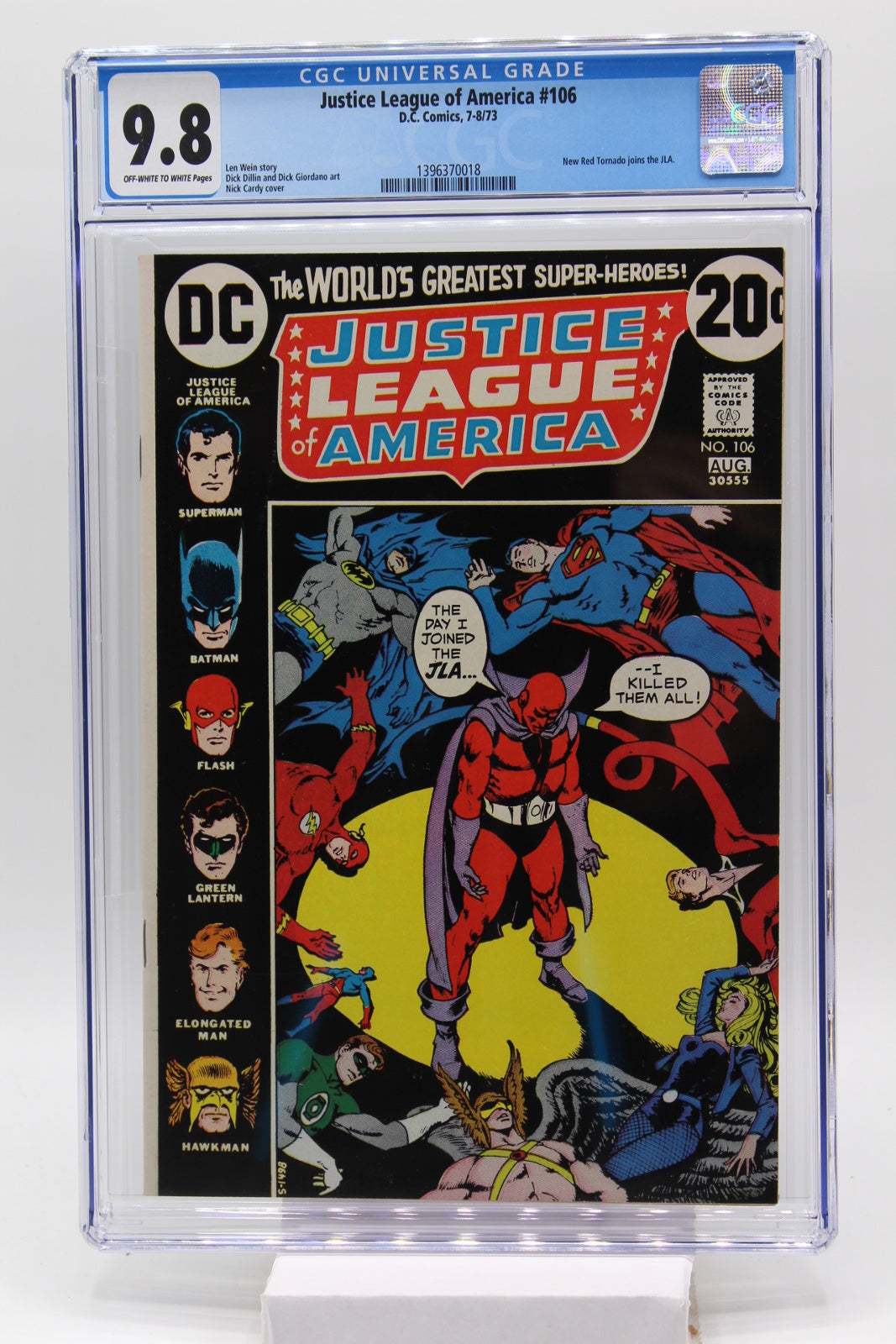Justice League of America #106 - CGC 9.8 - New Red Tornado joins JLA