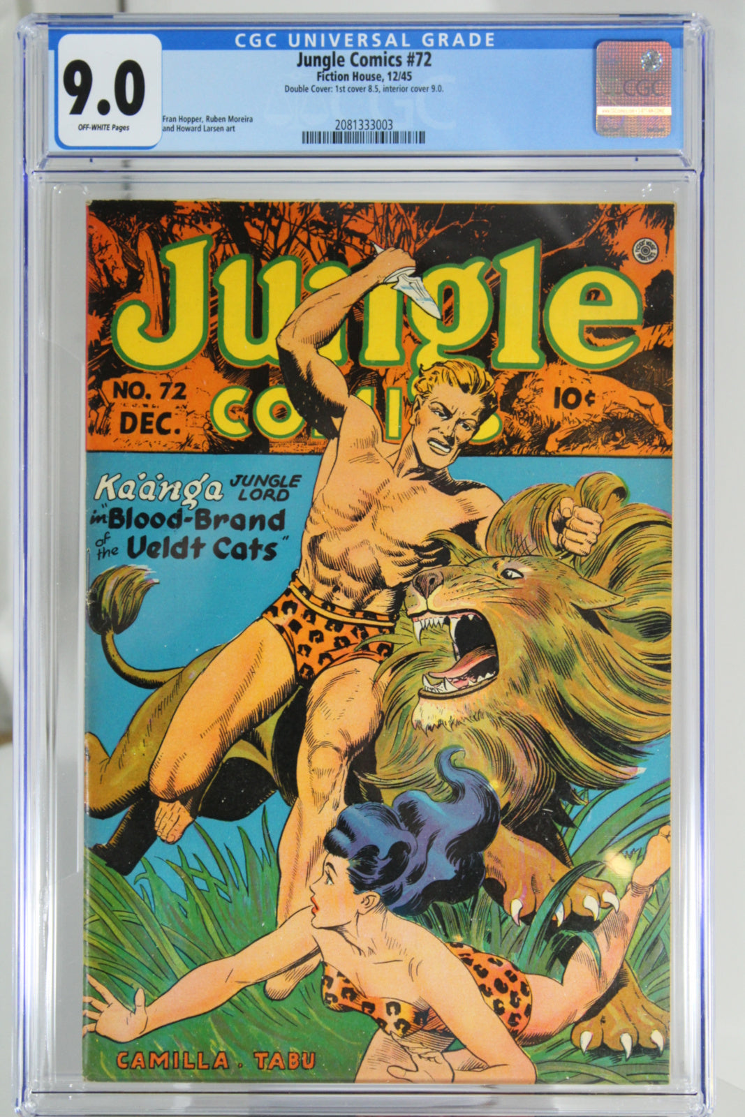 Jungle Comics #72 - CGC 9.8 - Double Cover: 1st 8.5, Interior 9.0