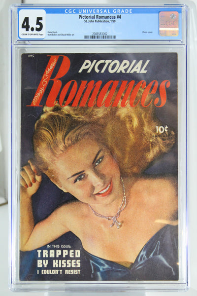 Pictorial Romances #4 - CGC 4.5 - Photo cover