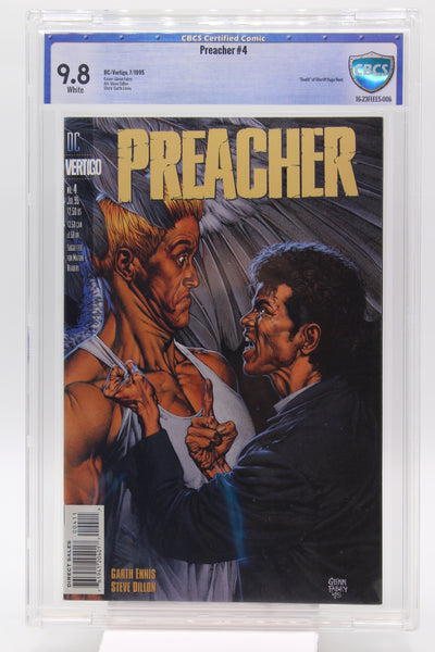 "Preacher #4 - CBCS 9.8 - ""Death"" of Sheriff Hugo Root"