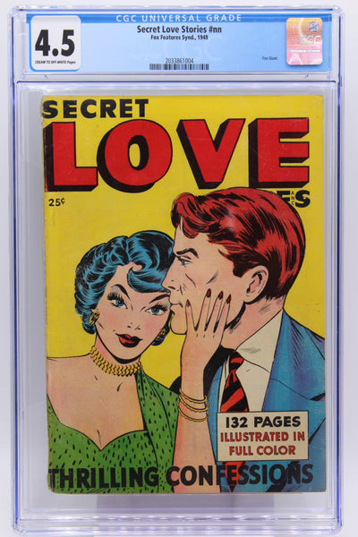 Secret Love Stories #nn CGC 4.5 Fox Giant