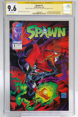 Spawn #1 (Signed) CGC 9.6 Sig Series Michael J. White, Tom Orzechowski