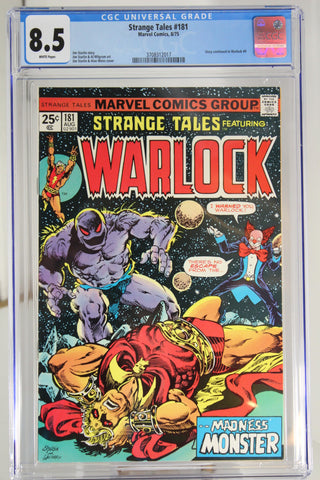 Strange Tales #181 CGC 8.5 White Pages