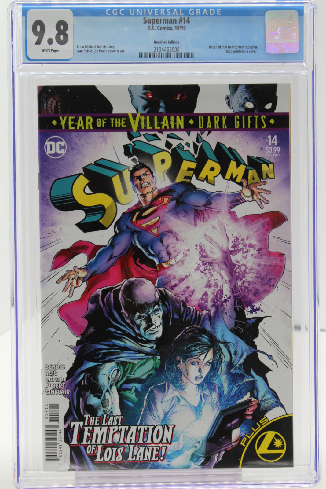 Superman #14 - Recalled Edition, CGC 9.8 White Pages