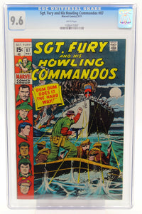 Sgt. Fury and His Howling Commandos #87 CGC 9.6 White Pages