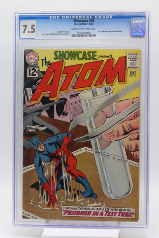 Showcase #36 CGC 7.5 3rd Silver Age Appearance Atom