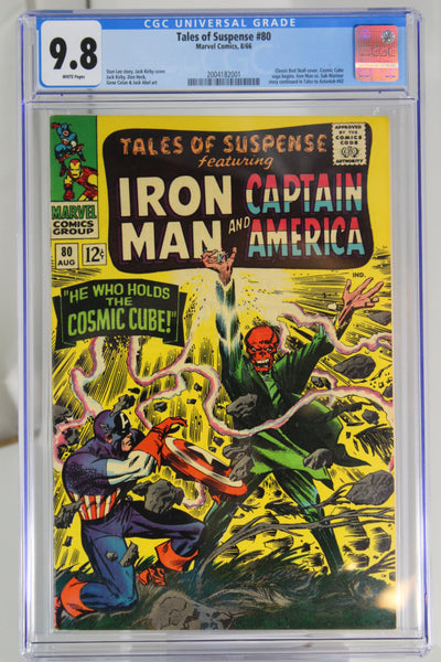Tales of Suspense #80 CGC 9.8, White Pages, Classic Red Skull Cover, Cosmic Cube