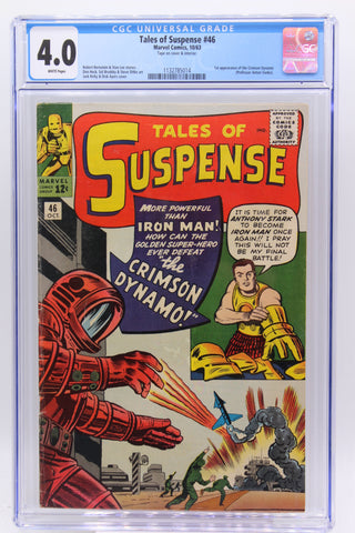 Tales of Suspense #46 CGC 4.0 White Pages, 1st Appearance Crimson Dynamo