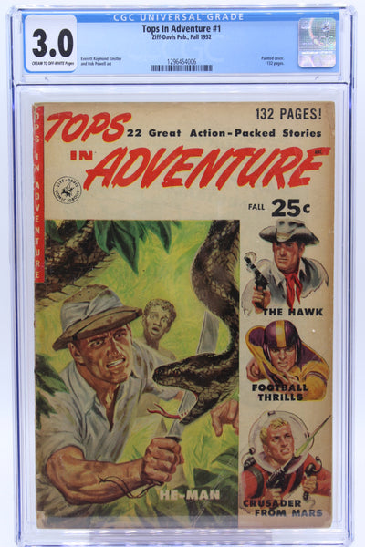 Tops in Adventure #1 CGC 3.0 132 Pages, Painted Cover