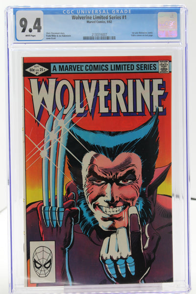 Wolverine Limited Series #1 CGC 9.4 White Pages