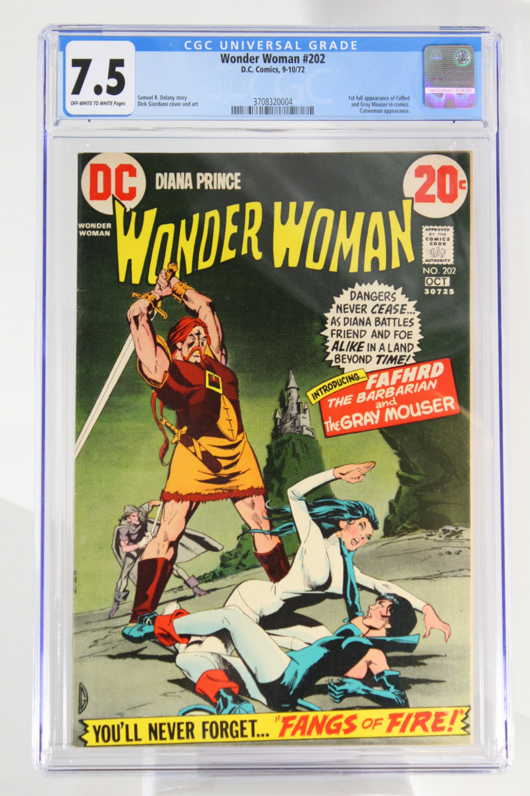 Wonder Woman #202 CGC 7.5 1st Appearance Fafhrd and Gray Mouser