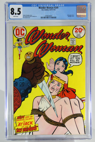 Wonder Woman #209 CGC 8.5, White Pages, Bondage Cover