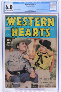 Western Hearts #1 CGC 6.0, Photo Cover