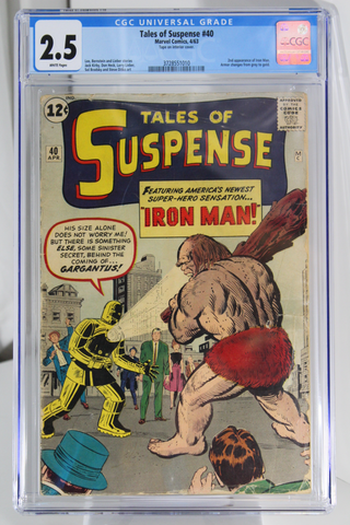 Tales of Suspense #40 - CGC 2.5 - 2nd app of Iron Man. Armor changes from grey to gold.