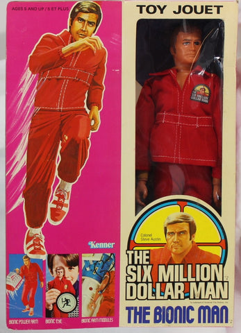 1973 - KENNER - THE SIX MILLION DOLLAR MAN - COLONEL STEVE AUSTIN - CANADIAN BOX - USED
