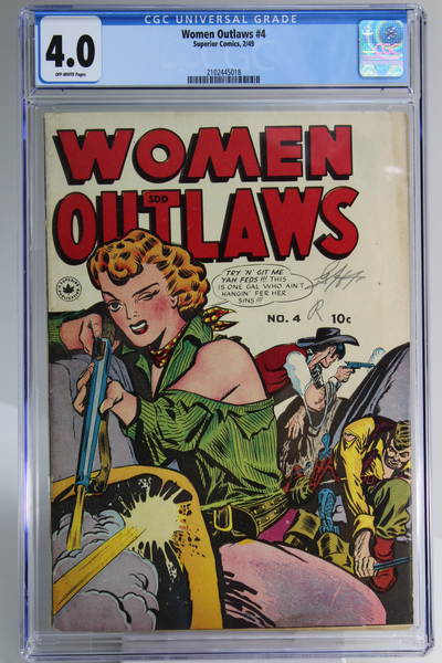 Women Outlaws #4 - Canadian Edition, CGC 4.0, Golden Age Western