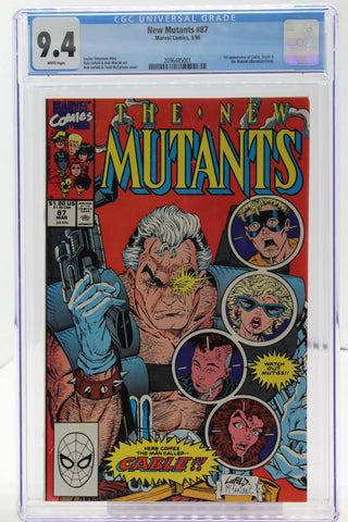New Mutants #87 - CGC 9.4 - 1st app of Cable & Stryfe
