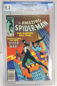 Amazing Spider-Man #252 CGC 9.2, White Pages, New Black Costume