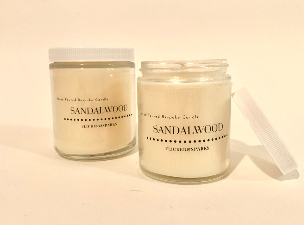 Hand Poured Candle in Our Signature Sandalwood Scent