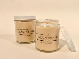 Hand Poured Candle in Our Signature Cinna-Nut Latte Scent