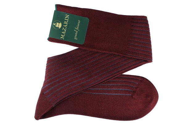 Bordeaux & Bleu - super-durable Cotton lisle