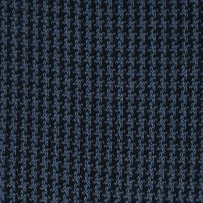 Navy blue & Steel blue - Houndstooth - Super-durable Cotton lisle